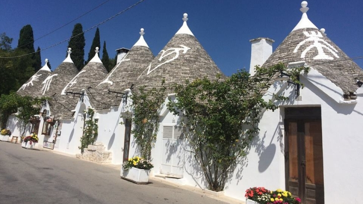 Trulli living in Alberobello, Italy