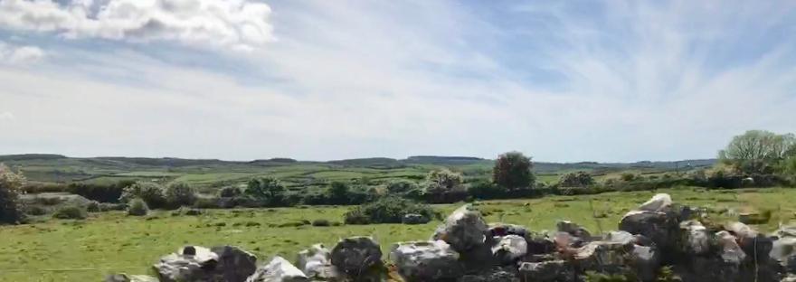 Stonewall in the Irish countryside